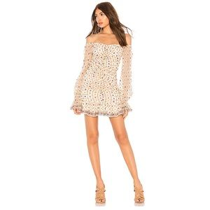 Tularosa NWT Kassandra Embroidered Dress In Cream